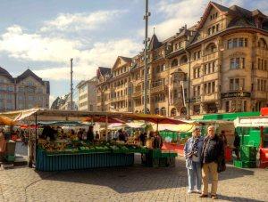 Street market in Basel